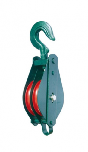 COMMERCIAL CLOSED TYPE DOUBLE PULLEY BLOCK WITH HOOK
